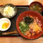 77112448 - 海鮮ユッケ丼定食