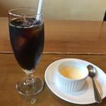 原田八幡 - アイスコーヒー&ぷりん