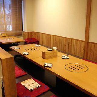 清潔間のあるゆったりとした席で美味しいお食事を