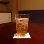日本料理 子孫 - 梅酒ソーダ割り