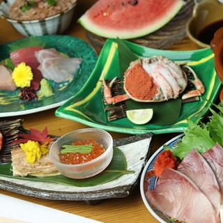 本格的ながら気軽に愉しめる日本料理を。旬の魚介や野菜に舌鼓。