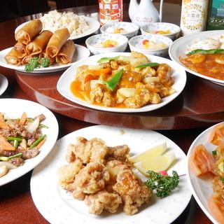 料理は出来たて!豪華中華料理コースございます◎
