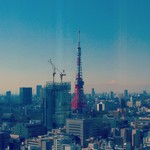 オールデイダイニング ハーモニー - 東京タワーと富士山。