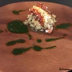 リストランテ ブォーノ - オマール海老のグリリアータと穴子と大麦のリゾット