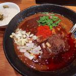つなぎ - 【11月限定】辛っとろ味噌麻婆麺・2辛(990円)+ライス(ランチタイム50円)