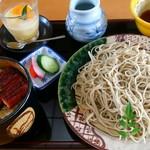 手打蕎麦 元禄 - うな丼御膳 1580円