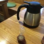 日本茶甘味処あずき - 15秒砂時計とお湯ポッド