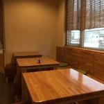 日本茶甘味処あずき - 内観 今回はテーブル席