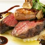 ビストロ オリーブ - 高級食材をふんだんに使用した『和牛の炭火焼きとフォアグラのロッシーニ風トリュフソース』