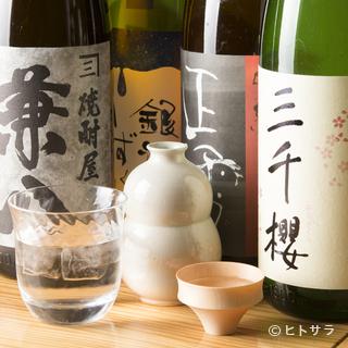 和食に合う、選び抜かれた日本酒を全国各地から取り寄せ