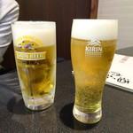 77134491 - 生ビールとシャンディガフ