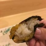 旬美にしかわ - 伊勢海老とウニの手巻き寿司