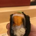 旬美にしかわ - イカとウニの手巻き寿司
