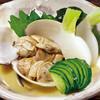 ハマグリと小カブのの辛子酢味噌