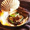 特大ホタテのカニ味噌焼き
