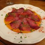 隠れ家イタリアンバル Healthy Boy - ブリのカルパッチョ フレッシュトマトのソース