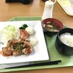 77143699 - から揚げ スイートチリ定食 ¥750-