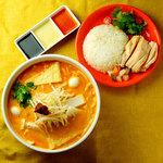 ラクサとミニ海南鶏飯(ハイナンジーファン)セット