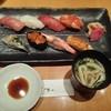 魯山 - 料理写真:おまかせ魯山の握りと味噌汁