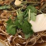 角清 - 山菜そば。 美味し。