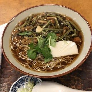 角清 - 山菜そば。 税込850円。 美味し。