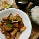 カフェガーデンさら - 鶏の甘辛照り煮定食