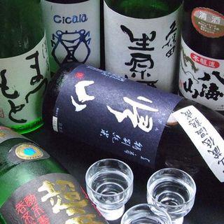 豊富な日本酒♪
