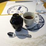 和食 明美 - イナダ西京焼きランチ(1,200円)につく白玉ぜんざい