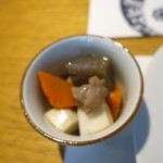 和食 明美 - イナダ西京焼きランチ(1,200円)につく筑前煮