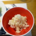 和食 明美 - イナダ西京焼きランチ(1,200円)につくポテサラ