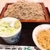 長寿庵 - 料理写真:もりそば(610)+揚げ玉(100)