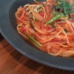 ホテル&レストラン ロジャー - 松阪豚のベーコンと秋茄子のトマトパスタ