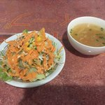 ディープジョティ - 料理写真:サラダとスープ