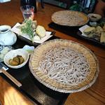 みずの風 蕎麦処 - 天ぷらざるそば 大盛り 1650円+350円