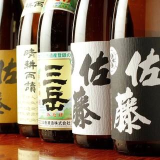 日本酒・焼酎は各銘酒を取り揃えております!