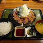 牛とん亭 - 料理写真:牛カツ定食(120g)¥1480-