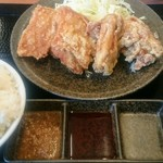 からやま - 料理写真:合盛り定食(ゆず胡椒)期間限定