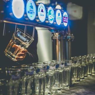 6種類の生ビール★ヒューガルデンホワイト、ヒューガルデンロゼ