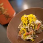ジェム バイ モト - 蟹、カニミソ、とんぶり、れんこんの土佐酢和え