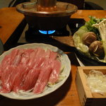 浅草一文 - 料理写真:ねぎましゃぶしゃぶ 梅醤油でさっぱりと