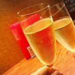 77172171 - スパークリングワインで乾杯♡