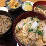 あおやま長寿庵 - あおやま長寿庵(カツ丼セット)