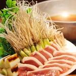肉盛り 牛もつ鍋 時々ハレ酒場 HALU - 仙台せり鴨鍋