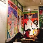 文房具カフェ - コラボ仕様の店内