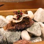 77184176 - スワロー・シティの古代米「紫宝」にミンスミートのラグー