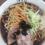 麺屋 翔 - 東仙台ブラック大盛り700円 太麺を選択