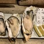 マルショウ アリク - 牡蠣の食べ比べ三種盛
