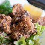 焼肉道場 ローヤル 養老本店 - 2017.11 牛タンのから揚げ(580円)