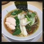 むぎとオリーブ - 鶏・煮干・蛤のトリプルSOBA 980円