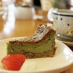 arco cafe - 抹茶のチーズケーキ